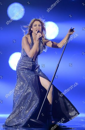 Maria Elena Kyriakou Representing Greece Performs During Rehearsals For the Grand Final of the 60th Annual Eurovision Song Contest (esc) at the Wiener Stadthalle in Vienna Austria 22 May 2015 the Grand Final Takes Place on 23 May Austria Vienna
