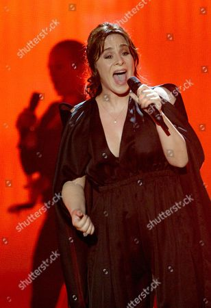 Trijntje Oosterhuis Representing the Netherlands Performs During the First Semi-final of the 60th Annual Eurovision Song Contest (esc) at the Wiener Stadthalle in Vienna Austria 19 May 2015 the Second Semi-final Takes Place on 21 May and the Grand Final on 23 May Austria Vienna