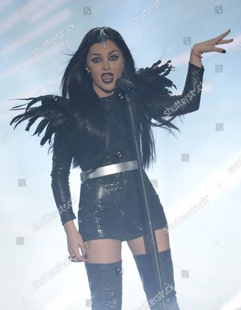 Singer Nina Sublatti Representing Georgia Performs During the Grand Final of the 60th Annual Eurovision Song Contest (esc) at the Wiener Stadthalle in Vienna Austria 23 May 2015 There Are 27 Finalists From As Many Countries Competing in the Grand Final Austria Vienna