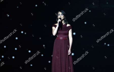 Boggie Representing Hungary Performs During the First Semi-final of the 60th Annual Eurovision Song Contest (esc) at the Wiener Stadthalle in Vienna Austria 19 May 2015 the Second Semi-final Takes Place on 21 May and the Grand Final on 23 May Austria Vienna