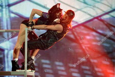 Stock Picture of Ukrainian Singer Eduard Romanyuta (r) Representing Moldova Performs During the First Semi-final of the 60th Annual Eurovision Song Contest (esc) at the Wiener Stadthalle in Vienna Austria 19 May 2015 the Second Semi-final Takes Place on 21 May and the Grand Final on 23 May Austria Vienna