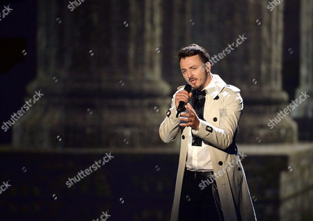 Daniel Kajmakoski Representing Macedonia Performs During the First Semi-final of the 60th Annual Eurovision Song Contest (esc) at the Wiener Stadthalle in Vienna Austria 19 May 2015 the Second Semi-final Takes Place on 21 May and the Grand Final on 23 May Austria Vienna