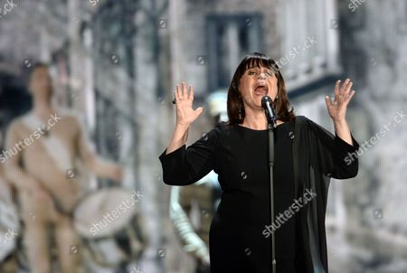 Singer Lisa Angell Representing France Performs During Rehearsals For the Grand Final of the 60th Annual Eurovision Song Contest (esc) at the Wiener Stadthalle in Vienna Austria 22 May 2015 the Grand Final Takes Place on 23 May Austria Vienna