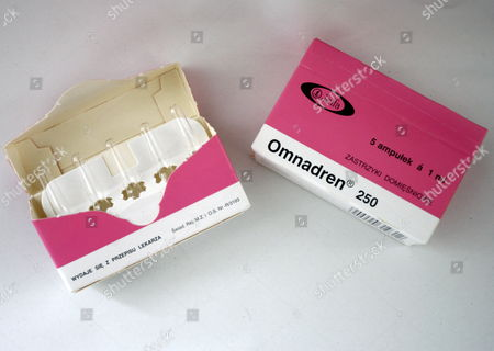 The Photo Shows a Box of Illegal Anabolics at a Police Press Conference in Berlin Tuesday 29 August 2006 For the First Time the Police Have Conducted an International Razzia Against the Trading of Illegal Anabolics Within the Bodybuilder Scene Photo: Marcel Mettelsiefen Germany Berlin
