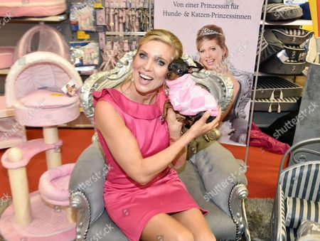 Princess Maja Von Hohenzollern Holds Prague Ratter Trudi at the Pet Expo (htm)áat the Velodrom in Berlin Germany 01 November 2014 a Portion of Procedes From the Products Goes to Animal Protection Germany Berlin