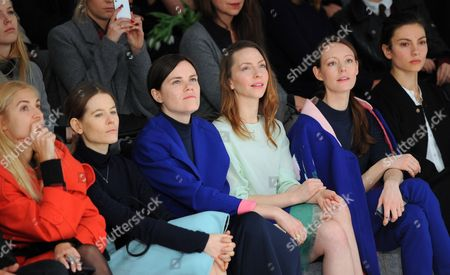 German Costume Designer Aino Laberenz (l-r) Actresses Fritzi Haberland Katharina Schuettler and Lavinia Wilson Attend the Offsite Show of Fashion Label Capara During the Mercedes-benz Fashion Week in Berlin Germany 21 January 2015 the Fall/winter 2015 Collections Are Presented From 19 to 23 January Germany Berlin