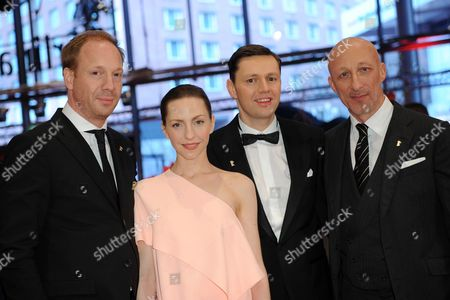 German Actors (l-r) Johann Von Buelow Katharina Schuettler Christian Friedel and Director Oliver Hirschbiegel Arrive For the Screening of '13 Minutes' (elser) During the 65th Annual Berlin Film Festival in Berlin Germany 12 February 2015 the Movie is Presented in the Official Competition of the Berlinale Which Runs From 05 to 15 February Germany Berlin