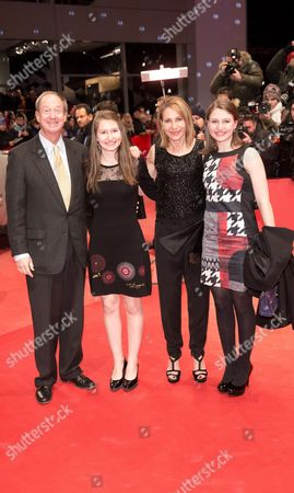 Us Ambassador in Germany John B Emerson (l) His Wife Kimberly Marteau Emerson (2-r) and Daughters Jacqueline (r) and Hayley Arrive For the Premiere of 'Cinderella' at the 65th Annual Berlin International Film Festival in Berlin Germany 13 February 2015 the Movie is Presented out of Competition at the Berlinale Which Runs From 05 to 15 February Germany Berlin