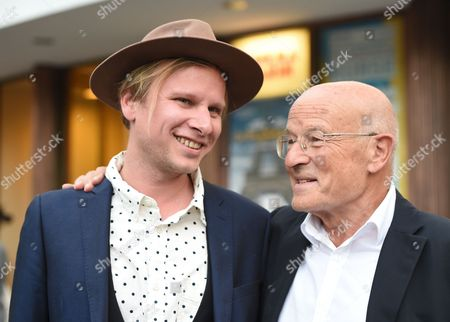 Austrian Actor Robert Stadlober (l) and German Director Volker Schloendorff (r) Arrive For the Premiere of Their Film 'Diplomatie' (diplomacy) at the Cinema Paris in Berlin Germany 25 August 2014 the German-french Production About the Liberation of Paris in 1944 Will Be Released in German Theaters on 28 August Germany Berlin