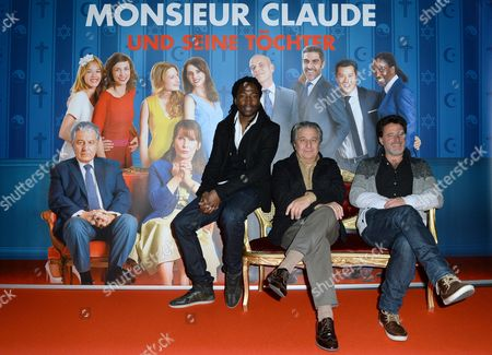 (l-r) French Actors Noom Diawara and Christian Clavier and French Director Philippe De Chauveron Attend the the 'Goldene Leinwand' (golden Screen) Award Ceremony at the 'Kulturbrauerei' (lit : Culture Brewery) in Berlin Germany 05 December 2014 They Received the Prize For Their Movie 'Qu'est-ce Qu'on a Fait Au Bon Dieu?' (serial (bad) Weddings) Germany Berlin