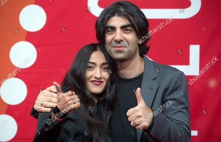 German Director Fatih Akin Poses with French-moroccan Singer Hindi Zahra (l) As They Arrive For the Hamburg Film Festival in Hamburg Germany 27 August 2014 Fatih Akin Won Received the Douglas-sirk-prize During the Ceremony Germany Hamburg