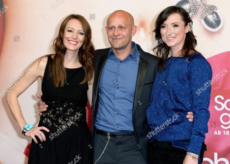 (l-r) German Actress Lavinia Wilson German Actor Juergen Vogel and British Author Charlotte Roche Arrive For the Premiere of the Movie 'Scho?gebete' in Berlin Germany 08 September 2014 the Movie Will Be Released on German Theaters on 18 September Germany Berlin