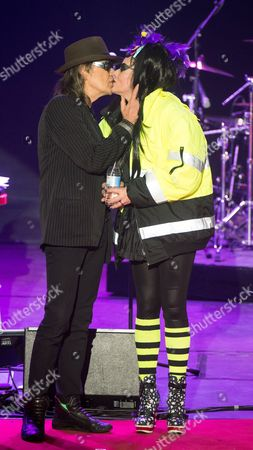 German Punk Legend Nina Hagen (r) and German Rock Singer Udo Lindenberg (l) Exchange Kisses on the Stage After Performing During the 'B Z Culture Award' Ceremony in the Komische Oper (comical Opera) House in Berlin Germany 21 January 2015 Since 1991 the Berlin Tabloid Newspaper B Z Awards This Annual Prize to Personalities That Contributed to Excellence For Cultural and Artistic Diversity in the German Capital Germany Berlin