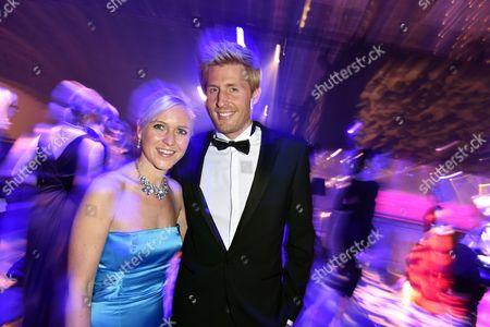 Singer Maxi Arland (r) and Wife Andrea Attend the Party After the Goldene Henne Awards Ceremony at the Neue Messe Ináleipzig Germany 10 October 2014 the Goldene Henne (golden Hen) is Awarded by the Magazine Superillu and Broadcasters Mdr Andárbb Germany Leipzig