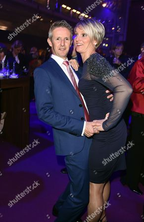 Former German Ski Jumper Jens Weissflog (l) and His Partner Doreen Fiebig Attend the Party After the Goldene Henne Awards Ceremony at the Neue Messe Ináleipzig Germany 10 October 2014 the Goldene Henne (golden Hen) is Awarded by the Magazine Superillu and Broadcasters Mdr Andárbb Germany Leipzig