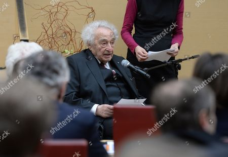 Holocaust Survivor Max Mannheimer Speaks at the German Bavarian State Parliament in Munich ágermany 27 January 2015 the Bavarian State Parliament Held a Commemorative Event to Mark the International Holocaust Remembrance Day on the 70th Anniversary of the Liberation of the Auschwitz-birkenau Nazi Death Camp where More Than 1 1 Million People Were Murdered 90 Per Cent of Whom Were Jews Soldiers of the Soviet Red Army Liberated the Auschwitz Camp on 27 January 1945 They Found About 7 000 Survivors Germany Munich