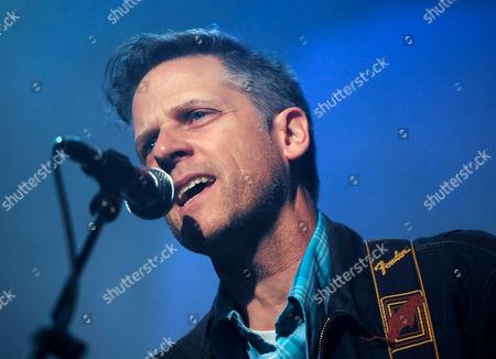 Joey Burns Us Singer of the Indie Rock Band Calexico Performs on Stage in Neukoelln in Berlin Germany 18 April 2015 Germany Berlin