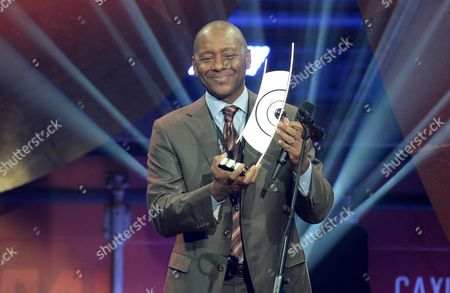 Us Saxophonist Branford Marsalis Holds His Prize in the Category 'Instrumentalist of the Year International - Saxophone' During the Awards Ceremony of 'Echo Jazz 2015 in Hamburg Germany 28 May 2015 the Echo Jazz Awards Are Presented For the Sixth Time in 21 Categories by the Deutsche Phono-akademie Germany Hamburg
