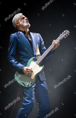 Ruben Block Singer and Guitarist of Belgian Rock Band Triggerfinger Performs on Stage During the 'Rock Im Revier' Music Festival at the Veltins-arena in Gelsenkirchen Germany 30 May 2015 the Event Runs From 29 to 31 May Germany Gelsenkirchen