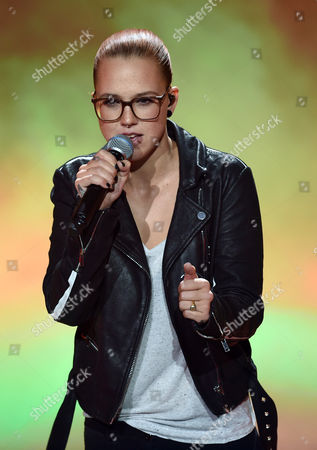Swiss Singer Stefanie Heinzmann Performs During the 'Echo' German Music Award Gala in Berlin Germany 26 March 2015 Germany Berlin