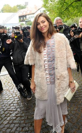 Oda Jaune Widow of Painter Joerg Immendorff Arrives For the Wedding of Princess Maria Theresia of Thurn and Taxis and Hugo Wilson at St Joseph's Church in Tuzingen Germany 13 September 2014 Germany Tutzing