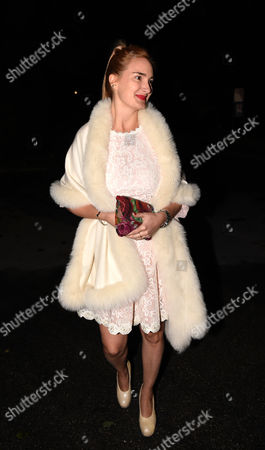 Princess Maria Theresia of Thurn and Taxis (l) and Her Fiance Hugo Wilson (not Pictured) Arrive For Their 'Wedding Shower' Party at P1 Nightclub in Munich Germany 12 September 2014 Princess Maria Theresia Will Marry Hugo Wilson on 13 September at Lake Starnberg in Tutzing Germany Germany Munich