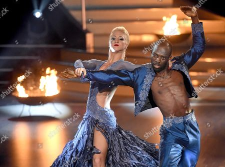 A Picture Made Available on 16 May 2015 of Former Soccer Player Hans Sarpei (l) and Austrian Dancer Karthin Menzinger (r) Performing a Pasodoble During the Rtl Television Program 'Let's Dance' German Version of 'Dancing with the Stars' in Cologne Germany 15 May 2015 Germany K÷ln