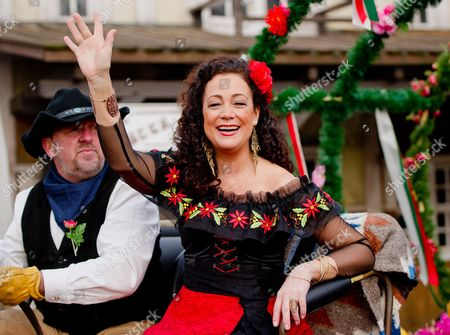 German Actress Barbara Wussow As Senorita Mirana Poses at a Photocall For the Karl May Festival in Bad Segeberg Germany 17 February 2015 on 27 June 2015 the Festival Begins with the Premiere of the Adventure 'In the Valley of Death' (im Tal Des Todes) in Its 64th Season Germany Bad Segeberg