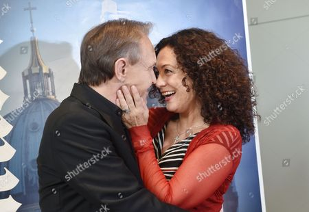German Actors Georg Preusse and Austrian Barbara Wussow (r) Pose at a Photocall at the Grand Hotel Esplanade in Berlin Germany 08 September 2014 the 'Jedermann-festspiele' Will Take Place at the Berliner Dom From 16 to 26 October 2014 Germany Berlin