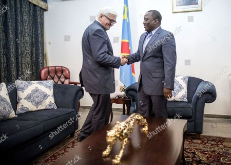 German Foreign Minister Frank-walter Steinmeier (l) Shakes Hand with Joseph Kabila Kabange (r) President of the Democratic Republic of the Congo During Their Meeting in Kinshasa 19 February 2015 Congo is the First Stop in Steinmeier's Four-day Trip to Africa Congo, the Democratic Republic of the Kinshasa