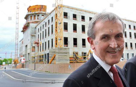 British Art Historian Neil Macgregor the Founding Artistic Director of the Humboldt Forum Visits the Palace Construction Site During a Tour in Berlin Germany 05 May 2015 the Destroyed Berlin State Palace Will Be Rebuilt As the Humboldt Forum Germany Berlin