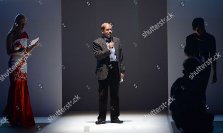 Israeli Ambassador to Germany Yakov Hadas-handelsman (c) Speaks Before the Fashion Show by Israeli Designer Shani Zimmerman at the Fashion Fair 'Potsdam Now' in Postdam Germany 20 January 2015 Within the Context of the Berlin Fashionáweek (bfw) the Collections For Fall/winter 2015 Are Presented the Bfw Runs From 19 to 23 January Germany Postdam