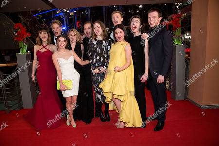 The Shooting Stars (l-r) Actors Natalia De Molina (spain) Sven Schelker (switzerland) Maisie Williams (england) Emmi Parviainen (finland) Moe Dunford (ireland) Hera Hilmar (iceland) Abbey Hoes (netherlands) Joachim Fjelstrup (denmark) Aiste Dirzyte (lithuania) and Jannis Niewoehner (germany) Pose with Their Trophies at the 65th Annual Berlin International Film Festival in Berlin Germany 09 February 2015 the Movie is Presented in the Official Competition of the Berlinale Which Runs From 05 to 15 February Germany Berlin
