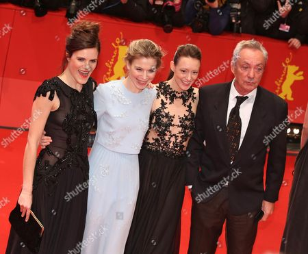 From (l-r): German Actors Fritzi Haberlandt Austrian Nora Von Waldstaetten Lavinia Wilson and Udo Kier Arrive For the Opening Gala of the 65th Berlin Film Festival and the Premiere of 'Nobody Wants the Night' in Berlin ágermany 05 February 2015 the Movie is Presented out of Competition at the Berlinale Which Runs From 05 to 15 February 2015 Germany Berlin