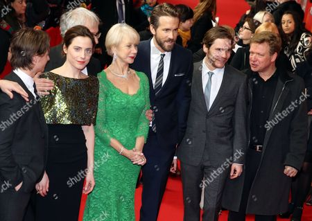 (l-r) German Actors Tom Schilling and Antje Traue British Director Simon Curtis (hidden) British Actress Helen Mirren Canadian Actor Ryan Reynolds and German Actors Daniel Bruehl and Justus Von Dohnanyi Arrive For the Premiere Ofá'woman in Gold' at the 65th Annual Berlin International Film Festival in Berlin Germany 09 February 2015 the Movie is Presented in the Berlinale Special Section of the Festival Which Runs From 05 to 15 February Germany Berlin