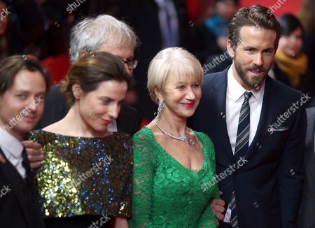 (l-r) German Actors Tom Schilling and Antje Traue British Director Simon Curtis (hidden) British Actress Helen Mirren and Canadian Actor Ryan Reynolds Arrive For the Premiere Ofá'woman in Gold' at the 65th Annual Berlin International Film Festival in Berlin Germany 09 February 2015 the Movie is Presented in the Berlinale Special Section of the Festival Which Runs From 05 to 15 February Germany Berlin