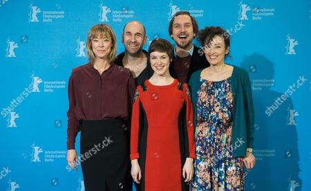From (l-r): German Actress Jenny Schily Swiss Actor Urs Jucker Actress Victoria Schulz German Actor Lars Eidinger and Swiss Director Stina Werenfels Pose at a Photcall For the Film 'Dora Or the Sexual Neuroses of Our Parents' During the 65th Annual Berlin Film Festival in Berlin Germany 12 February 2015 the Movie is Presented in the Panorama Special Section of the Berlinale Which Runs From 05 to 15 February 2015 Germany Berlin