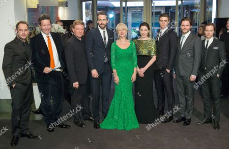 (l-r) German Actor Moritz Bleibtreu an Unidentified Guest German Actor Justus Von Dohnanyi Canadian Actor Ryan Reynolds British Actress Hellen Mirren German Actress Antje Traue British Actor Max Irons German Actors Daniel Bruehl and Tom Schilling Arrive For the Premiere Ofá'woman in Gold' at the 65th Annual Berlin International Film Festival in Berlin Germany 09 February 2015 the Movie is Presented in the Berlinale Special Section of the Festival Which Runs From 05 to 15 February Germany Berlin