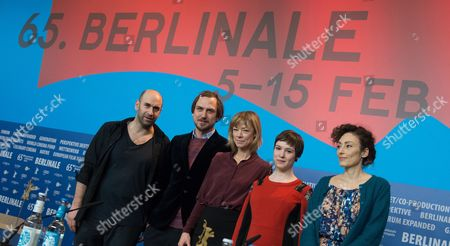 From (l-r): Swiss Actor Urs Jucker German Actor Lars Eidinger German Actress Jenny Schily Actress Victoria Schulz and Swiss Director Stina Werenfels Attend a Press Conference For the Film 'Dora Or the Sexual Neuroses of Our Parents' During the 65th Annual Berlin Film Festival in Berlin Germany 12 February 2015 the Movie is Presented in the Panorama Special Section of the Berlinale Which Runs From 05 to 15 February 2015 Germany Berlin