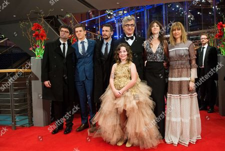 (l-r) German Producer Gian-piero Ringel Canadian Actor Robert Naylor Us Actor James Franco German Director Wim Wenders French Actress Charlotte Gainsbourg Canadian Actress Marie-josee Croze and Young Actress Lilah Fitzgerald (front) Arrive For the Premiere of 'Everything Will Be Fine' at the 65th Annual Berlin International Film Festival in Berlin Germany 10 February 2015 the Movie is Presented out of Competition at the Berlinale Which Runs From 05 to 15 February Germany Berlin