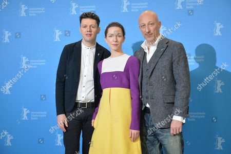 German Actors (l-r) Christian Friedel and Katharina Schuettler and Director Oliver Hirschbiegel Pose During a Photocall For the Film '13 Minutes' (elser) During the 65th Annual Berlin Film Festival in Berlin Germany 12 February 2015 the Movie is Presented in the Official Competition of the Berlinale Which Runs From 05 to 15 February Germany Berlin