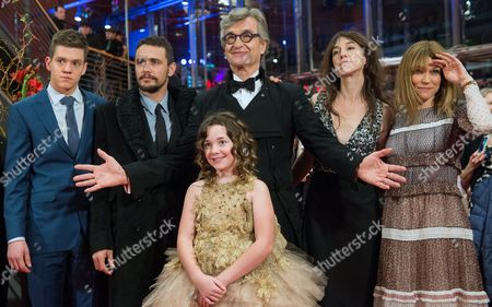 (l-r) Canadian Actor Robert Naylor Us Actor James Franco German Director Wim Wenders French Actress Charlotte Gainsbourg Canadian Actress Marie-josee Croze and Young Actress Lilah Fitzgerald (front) Arrive For the Premiere of 'Everything Will Be Fine' at the 65th Annual Berlin International Film Festival in Berlin Germany 10 February 2015 the Movie is Presented out of Competition at the Berlinale Which Runs From 05 to 15 February Germany Berlin