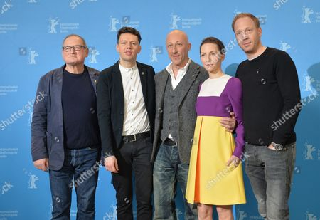 German Actors (l-r) Burghart Klaussner Christian Friedel Director Oliver Hirschbiegel Katharina Schuettler and Johann Von Buelow Pose During a Photocall For the Film '13 Minutes' (elser) During the 65th Annual Berlin Film Festival in Berlin Germany 12 February 2015 the Movie is Presented in the Official Competition of the Berlinale Which Runs From 05 to 15 February Germany Berlin