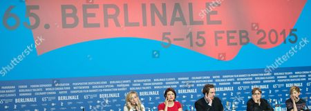 (l-r) Italian Producer Marta Donzelli Belgian-albanian Actress Flonja Kodheli German Actor Lars Eidinger Italian Director Laura Bispuri and Italian Actress Alba Rohrwacher Attend the Press Conference For 'Vergine Giurata' (sworn Virgin) at the 65th Annual Berlin International Film Festival in Berlin Germany 12 February 2015 the Movie is Presented in the Official Competition of the Berlinale Which Runs From 05 to 15 February Germany Berlin