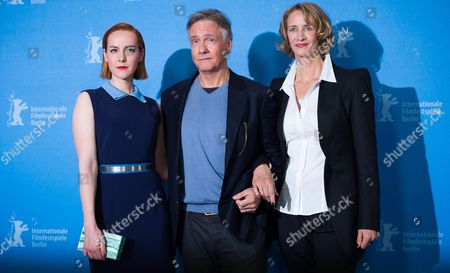 Stock Image of Us Actress Jena Malone (l) Us Direcor Mitchell Lichtenstein (c) and British Actress Janet Mcteer Pose During the Photocall For 'Angelica' at the 65th Annual Berlin Film Festival in Berlin Germany 07 February 2015 the Movie is Presented in the 'Panorama Special' Section of the Berlinale Which Runs From 05 to 15 February 2015 Germany Berlin