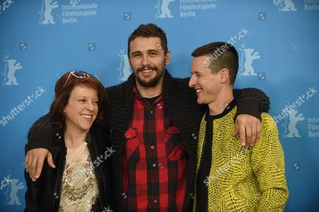 (l-r) Us Producer Lauren Selig Us Actor James Franco and Us Director Justin Kelly Pose During a Photocall For 'I Am Michael' at the 65th Annual Berlin Film Festival in Berlin Germany 09 February 2015 the Movie is Presented in the Panorama Section of the Berlinale Which Runs From 05 to 15 February 2015 Germany Berlin