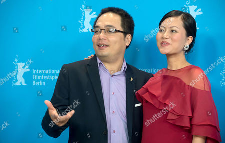 Vietnamese Actress Do Thi Hai Yen (l) and Director Phan Dang Di Pose During a Photocall For the Film 'Big Father Small Father and Other Stories' (cha Va Con Va) at the 65th Annual Berlin International Film Festival in Berlin Germany 13 February 2015 the Movie is Presented in the Official Competition of the Berlinale Which Runs From 05 to 15 February 2015 Germany Berlin