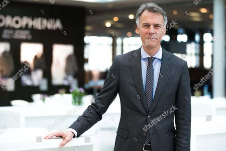 Chief Executive Officer of the Hugo Boss Ag Claus-dietrich Lahrs Poses Prior to the Balance Press Conference on the Business Year 2014 in Metzingen Germany 12 March 2015 Reports Said the German Fashion House Had Dismissed Its 2015 Sales Target of Three Billion Euros Citing Less Than Expected Luxury Spending in Europe and China Germany Metzingen