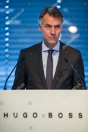 Chief Executive Officer of the Hugo Boss Ag Claus-dietrich Lahrs Comments the Results During the Balance Press Conference on the Business Year 2014 in Metzingen Germany 12 March 2015 Reports Said the German Fashion House Had Dismissed Its 2015 Sales Target of Three Billion Euros Citing Less Than Expected Luxury Spending in Europe and China Germany Metzingen