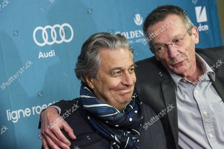 French Director Patrice Leconte (r) and French Actor/cast Member Christian Clavier (l) Arrive For the German Premiere of 'Une Heure De Tranquillite' in Berlin Germany 01 April 2015 the Movie Will Be Released in German Cinemas on 16 April Germany Berlin